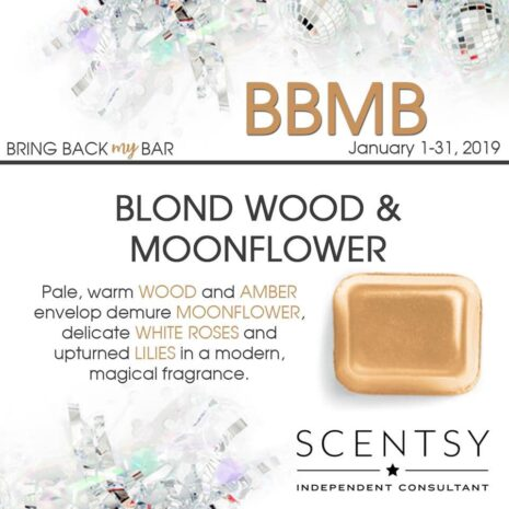 Blond Wood Moonflower Scentsy Bar