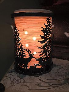 Forest Meadow Scentsy Wrap With Etched Core Warmer