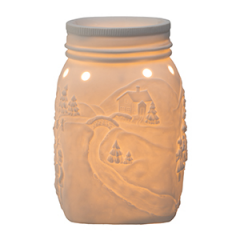 Let It Snow Scentsy Mason Jar Warmer