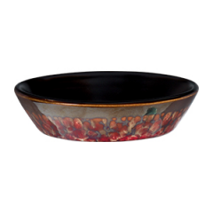 Red Marble Dish Only