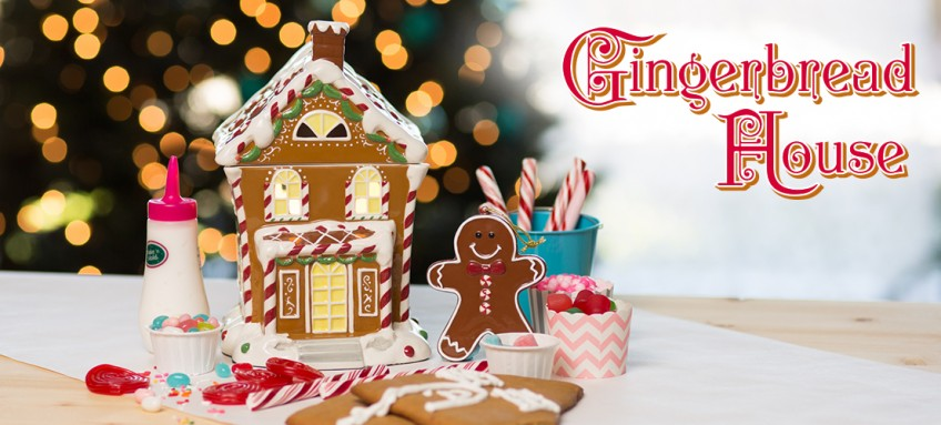 2015 Gingerbread House Scentsy Warmer and matching ornament