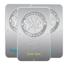 Scentsy Travel Tin 3 Pak