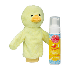 Scentsy Wellington the Duck & Berry Bubble Blue Scrubby Buddy