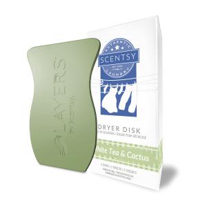 White Tea Cactus Laundry Dryer Disks