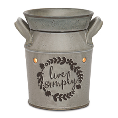 Scentsy Live Simply Milk Can Warmer