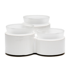 Accord Three Dish Scentsy Warmer White