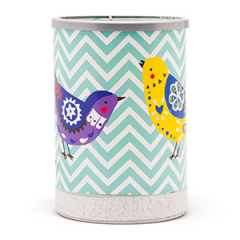 Chevrons and Songbirds Scentsy Warmer