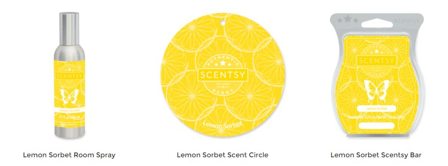 Lemon Sorbet Scentsy Products