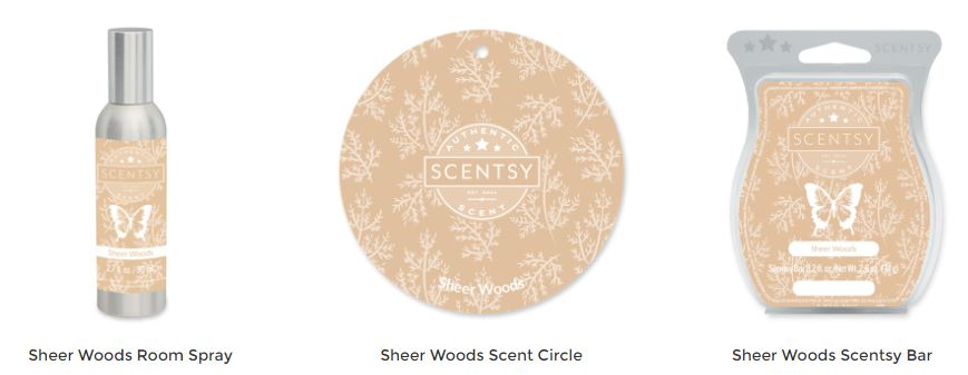 Sheer Woods Scentsy Products