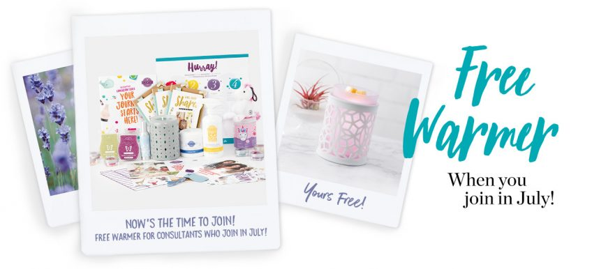 Join Scentsy In July and Receive a FREE warmer