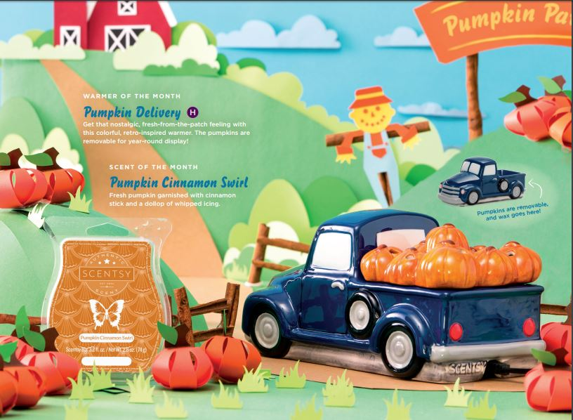 Pumpkin Delivery Scentsy Warmer Truck