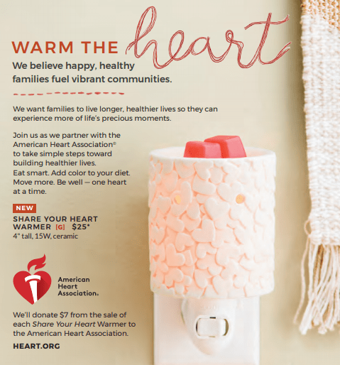 Scentsy American Heart Association Warmer
