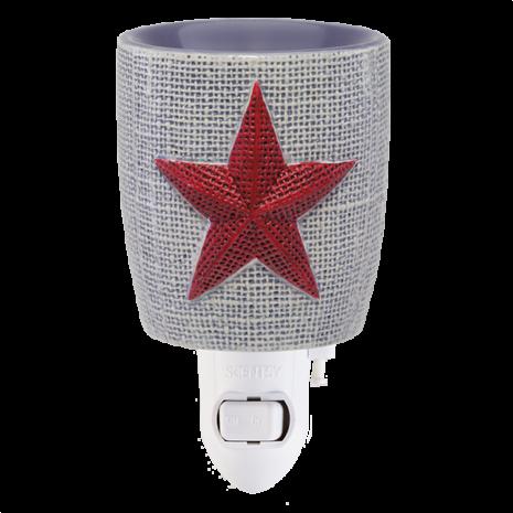 Burlap Star Scentsy Wax Warmer
