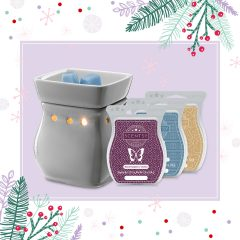 Classic Curve Gloss Gray Warmer Scentsy Gift Bundle