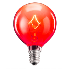 25 Watt Light Bulb - Red