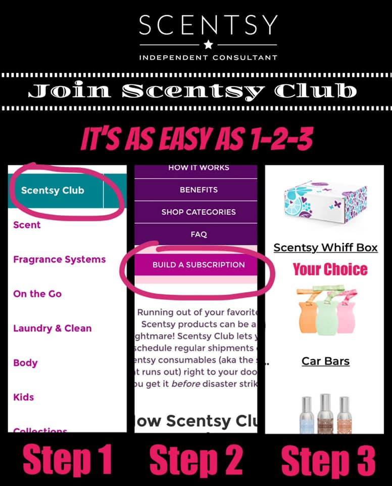 Scentsy Club Sign Up