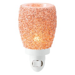 Glitter Rose Gold Mini Warmer